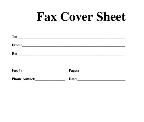 blank fax cover letter template word fax cover sheet archives word templates
