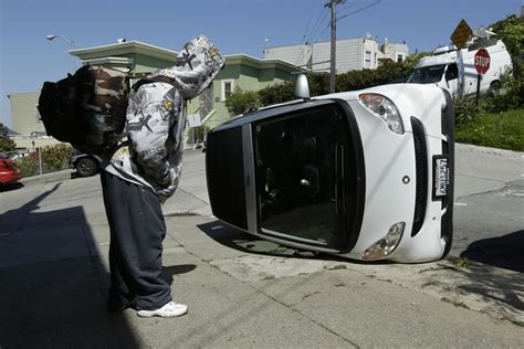 tipped smart cars smart car tipping takes a mysterious turn in san francisco