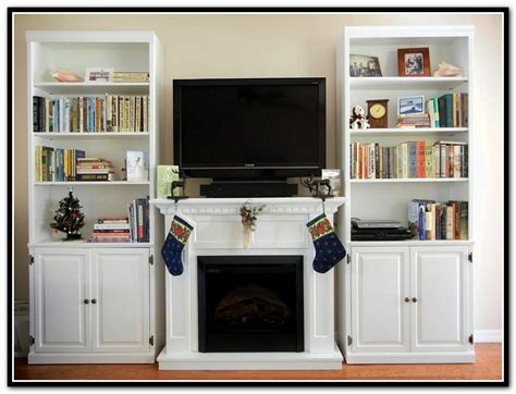 white electric fireplace with bookcase white fireplace with bookshelves home design ideas