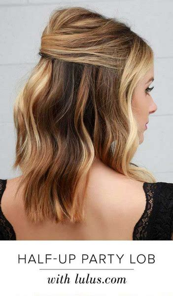 hairstyles for party down simple half up party lob the prettiest half up half down