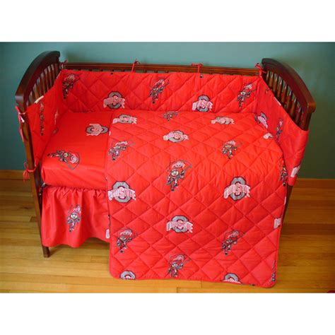 Ohio State Crib Bedding Ohio State Buckeyes Crib Bed In A Bag