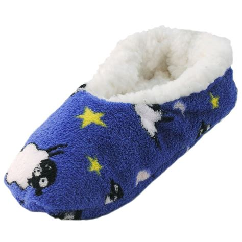 fleece slippers ballerina slippers cosy soft fabric chunky fleece