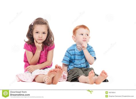for children two thinking stock images image 18376654