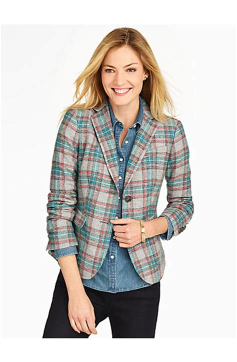 Talbots Gift Card Where To Buy - talbots tartan plaid jacket jackets