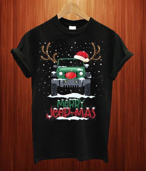 merry jeep mas funny reindeer jeep driving christmas  shirt