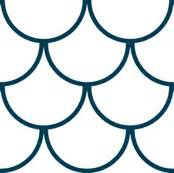 Outline Of A Fish Scale scales navy wallpaper amybethunephotography spoonflower
