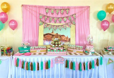 Birthday Decorations Ideas by Kara S Ideas Carousel Cupcake Themed Birthday