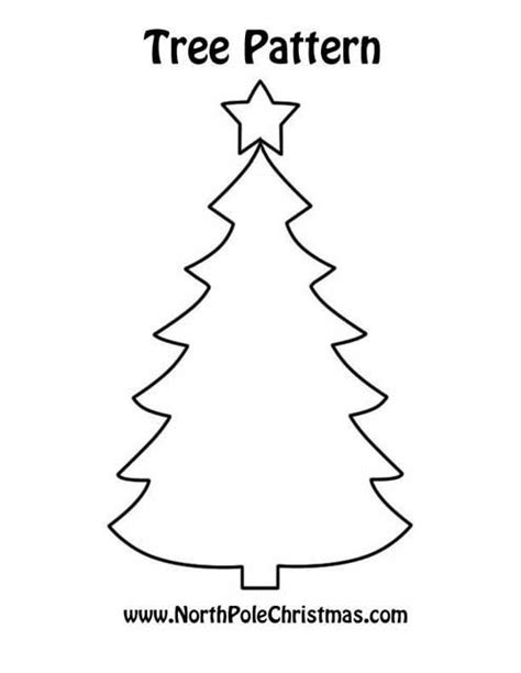 christmas tree 18 in stencil 9 best images of printable shape patterns printable tree ornament patterns