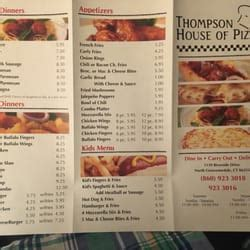 thompson house of pizza thompson house of pizza 13 avis pizza 1139 riverside dr north grosvenor dale
