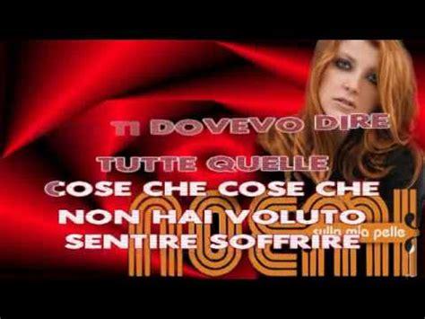 tappeto di fragole mp3 noemi fiorella mannoia l si odia karaoke con testo