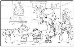 free doc mcstuffins colouring pages ipennypinch