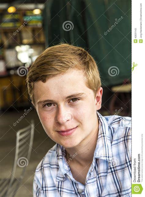 Boy With Short Blonde Hair   portrait of a dapper teen boy stock photo image 42631143