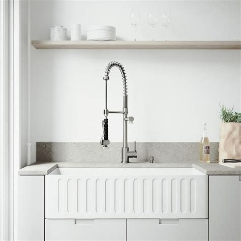 vigo stainless steel farmhouse sink vigo farmhouse apron front stainless steel 33 in single