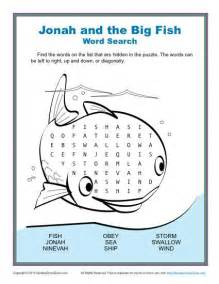 Jonah And The Whale Crafts For Older Kids - jonah and the big fish word search children s bible activities sunday lessons for kids
