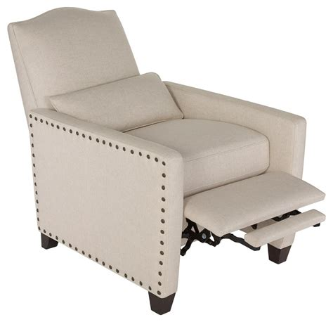 pushback recliner modern upholstered nailhead pushback recliner safavieh com