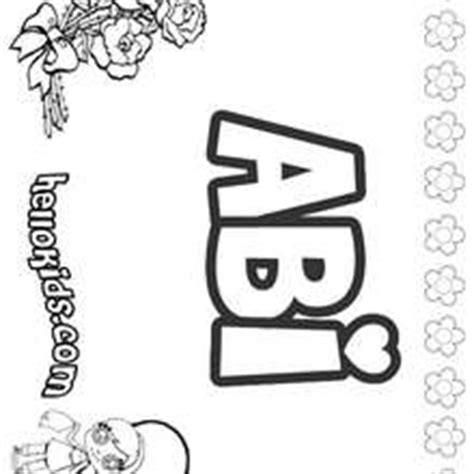coloring pages of the name abby abby coloring pages hellokids com