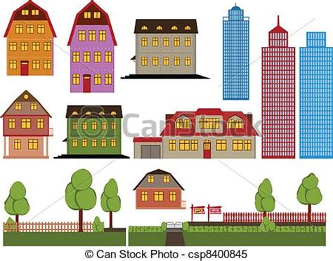 casa clipart clipart vectorial de casas conjunto de vector familia