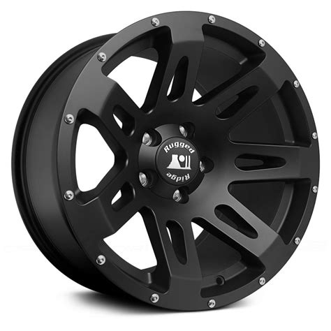 rugged wheels rugged ridge 174 xhd wheels satin black with modular cap rims