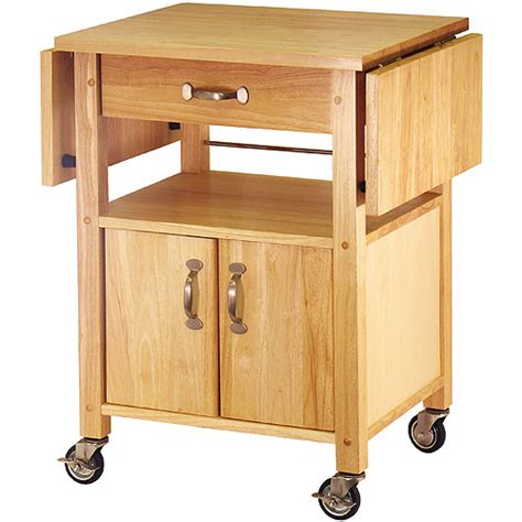 drop leaf kitchen cart walmart com