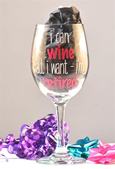 wine    im retired retirement wine glass etsy