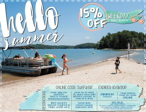lake lanier boat rental coupons rental specials coupons best in boating official website