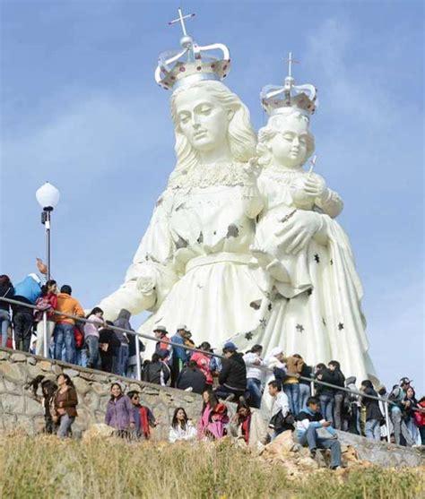 imagen de la virgen maria mas grande del mundo virgen del socav 243 n abre los festejos
