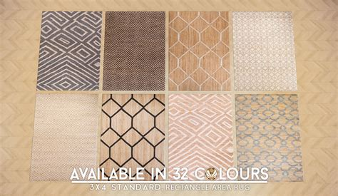 patterned jute rug my sims 4 updated patterned jute rugs in 32 styles by peacemaker ic