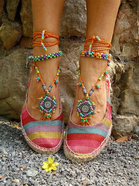 hippie slippers summer barefoot sandals sole less sandals