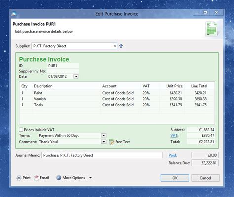 purchase invoice how to record a bill or purchase invoice
