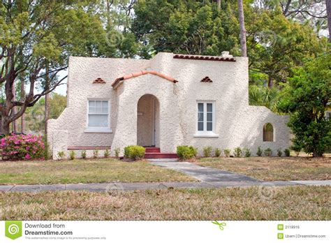 Old Colonial House Plans by Spanish Style Florida Home Royalty Free Stock Image