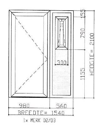 afmetingen wc deur kunststof voordeur incl zijpaneel werkspot