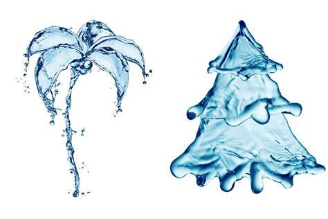 summer and winter water drops splash drawing creativity