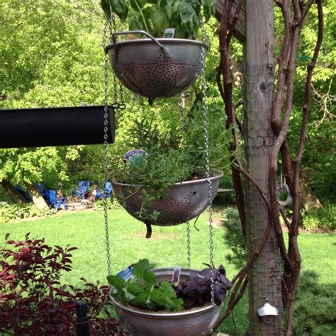 hanging herb garden hanging herb garden home outdoor spaces pinterest