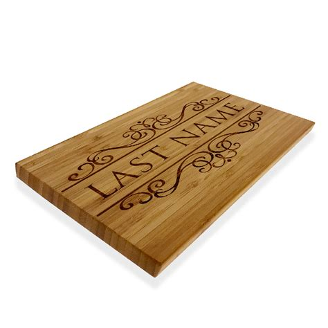 cutting board with trays personalized cutting chopping board custom last name