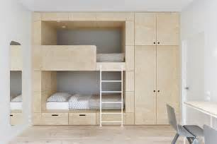 Loft Beds Japan Minimalist Apartment For A Family Of Four