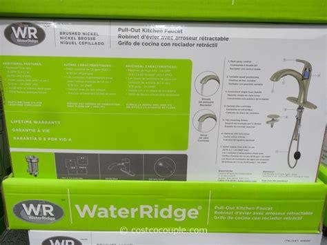 water ridge kitchen faucet waterridge kitchen faucet costco