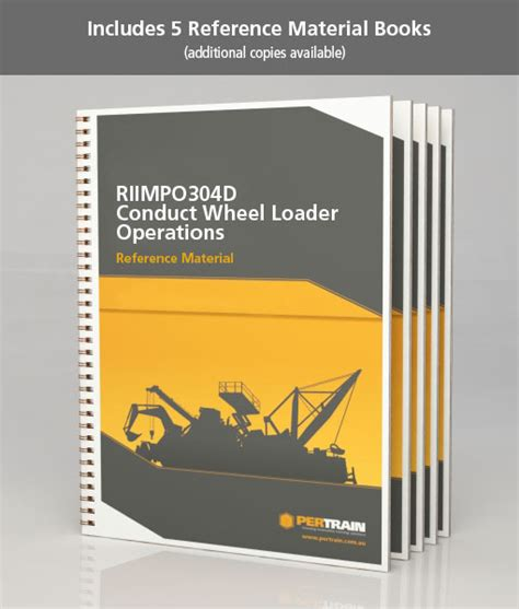 the of ethics in business operations books conduct wheel loader operations riimpo304d