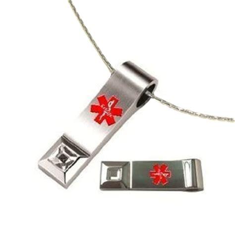 key 2 174 emr medi chip tear drop usb necklace