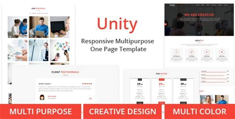 unity responsive layout unity website templates from themeforest