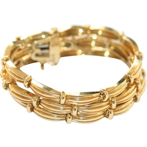 18 Carat Gold Bracelet From Organza by Vintage Co Row Signature Series 18