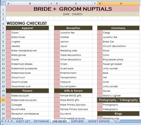 Wedding Checklist Philippines groom checklist budgetwedding weddingchecklist