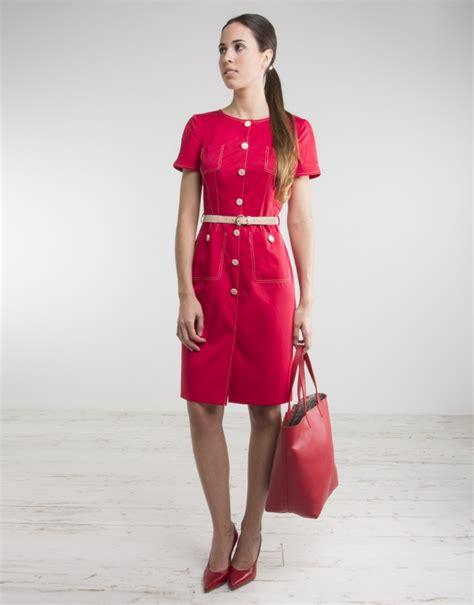 vestidos de manga corta vestido manga corta rojo vestidos mujer roberto verino
