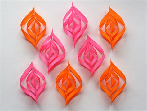 Paper Ornaments - diy paper ornaments how about orange