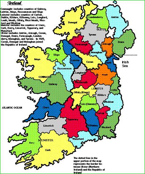ireland county map ireland maps