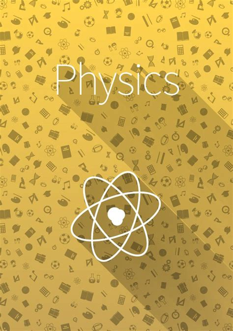 physics background cover quot physics quot on yellow background illustrations on