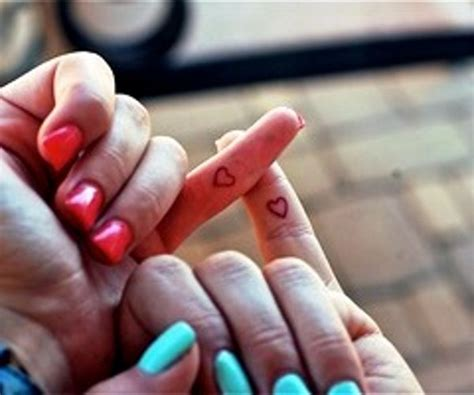 best friend finger tattoos friendship tattoos and designs page 148