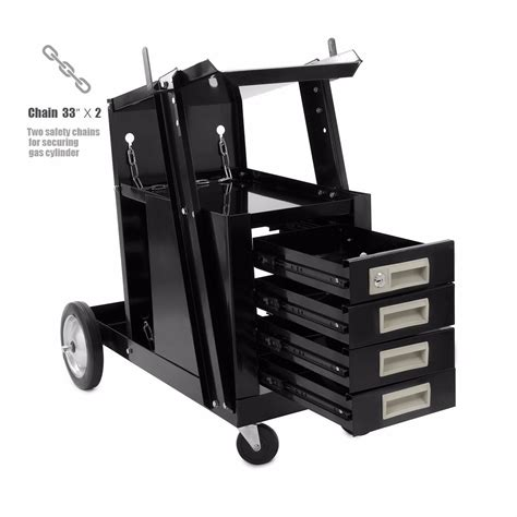 mig welding cart with drawers universal welding cart w 4 drawer cabinet mig tig arc