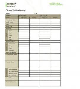 Fitness Appraisal Template by Category Australian Institute Of Fitness