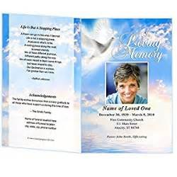 funeral programs templates microsoft word peace funeral program template edits in