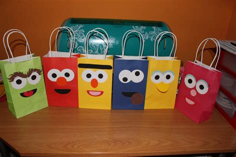 Sesame Street Treat Bags With Handles